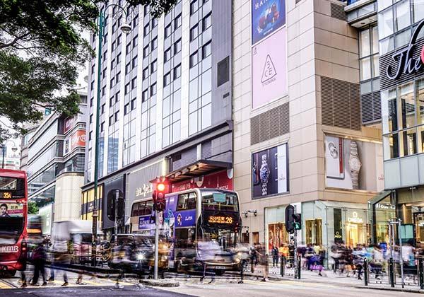Street view of Tsim Sha Tsui - WorkCave Hong Kong
