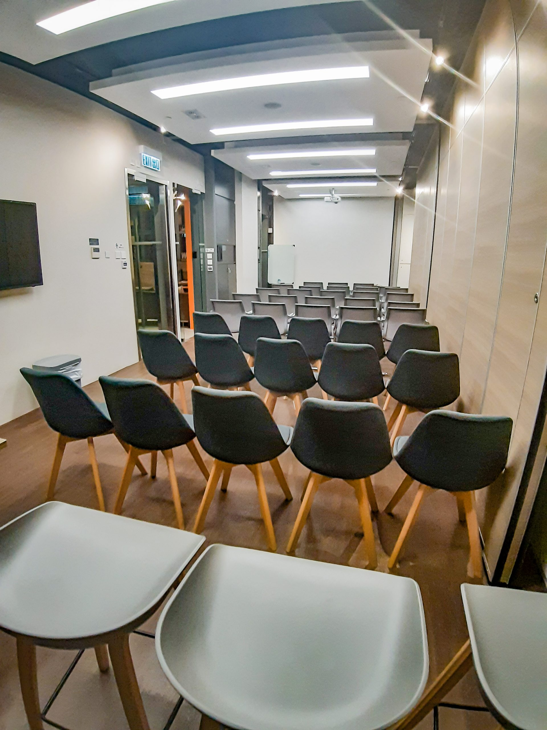 WorkCave L1 Event Space (Conference Room 1-3) Seminar Setting